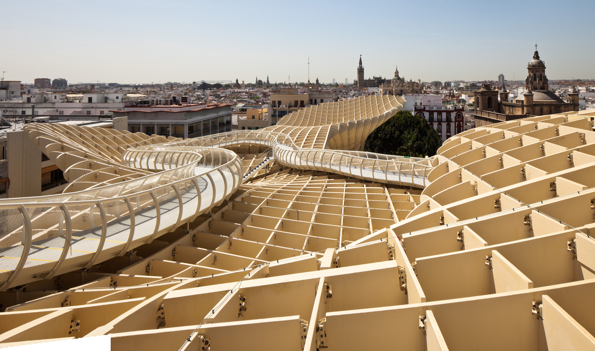 metropol parasol, j. mayer h. architects, spain, landmark, crazy architecture
