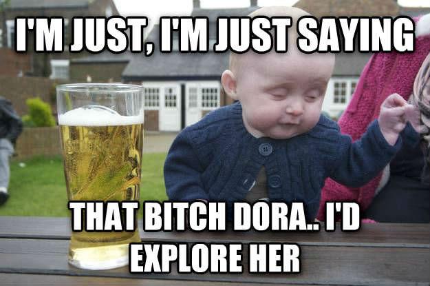 drunk baby meme, dora the explorer