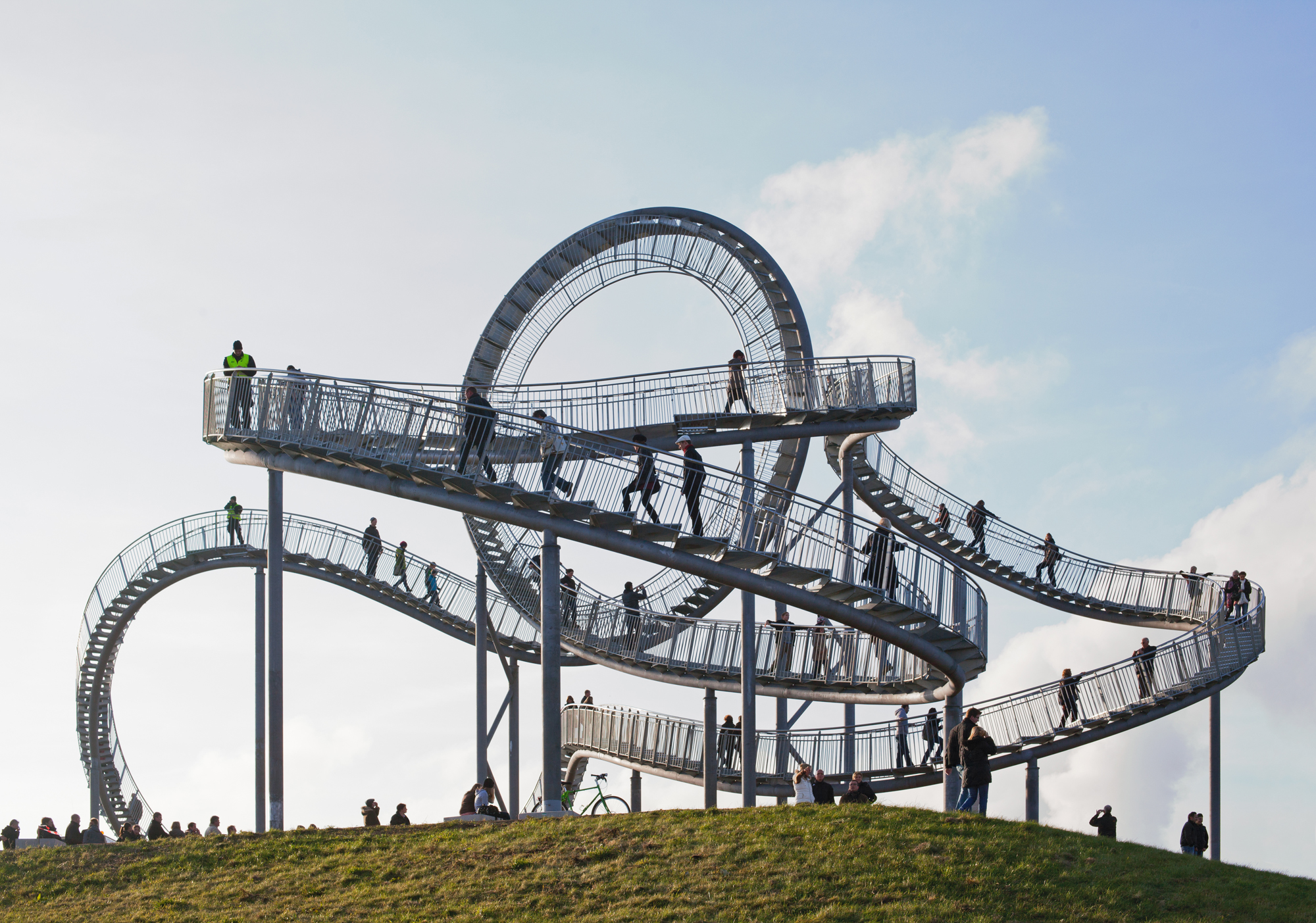 tiger and turtle—magic mountain by heike mutter und ulrich genth, germany, landmark, crazy architecture