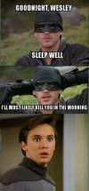 princess bride, goodnight wesley, i'll most likely kill you in the morning