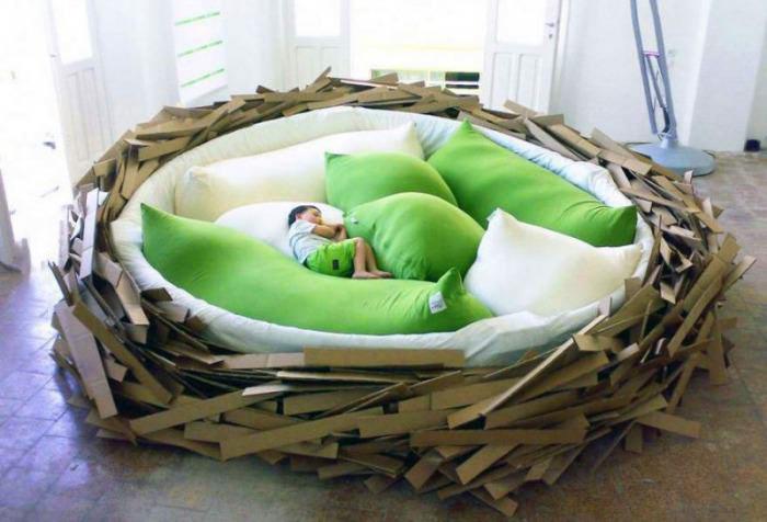 bed, nest, kid, cool furniture