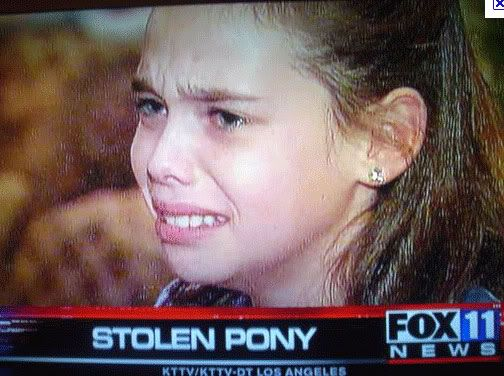 first world problems, little girl crying over stolen pony