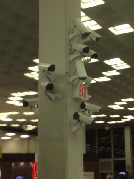 too many security cameras, wtf