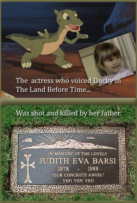 the actress who voiced ducky from land before time was shot and killed by her father, rip