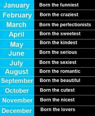 what are you based on your month of birth?