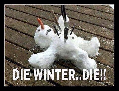 die winter die, snowman with knives in it