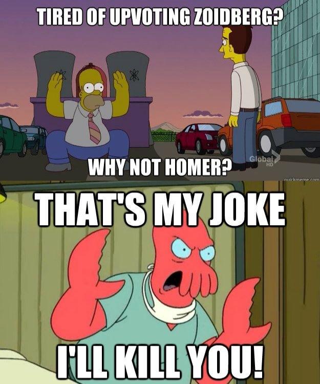 homer simpsons, zoidberg, the simpsons, futurama, meme, lol