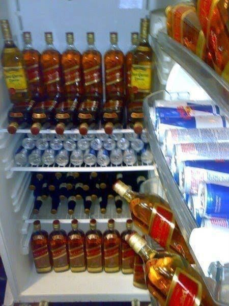 fridge full of booze, alcohol