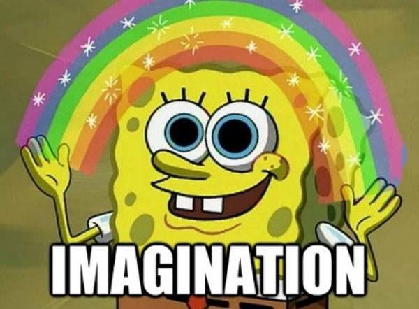 spongebob squarepants, imagination, meme