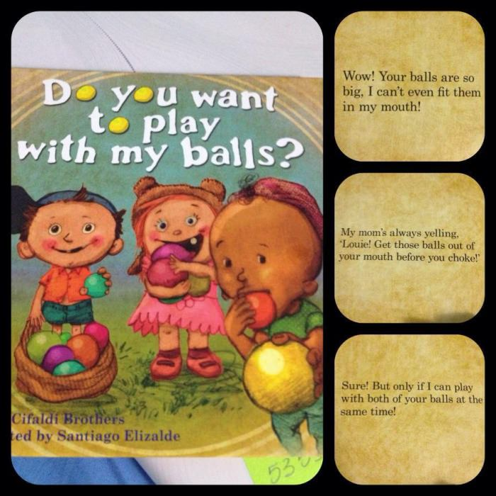 fail, kid's book, do you want to play with my balls, wtf