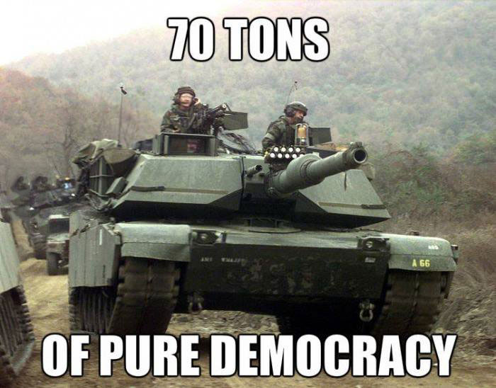 70 tons of pure democracy, tank, army machinery