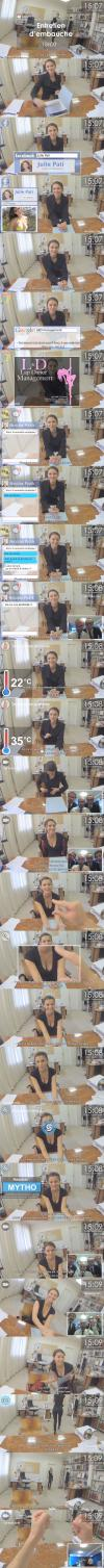 what men would really do with google glass during an interview, lol, hot girl