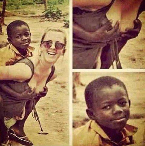 kid grabbing girl's boobs, lol, happiness