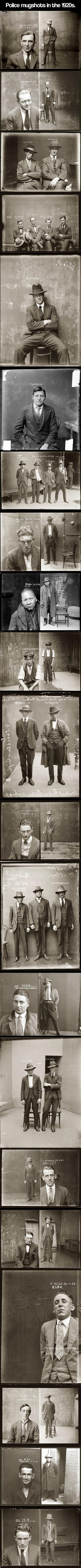 when criminals used to look really good, police mughsots from the 1920's