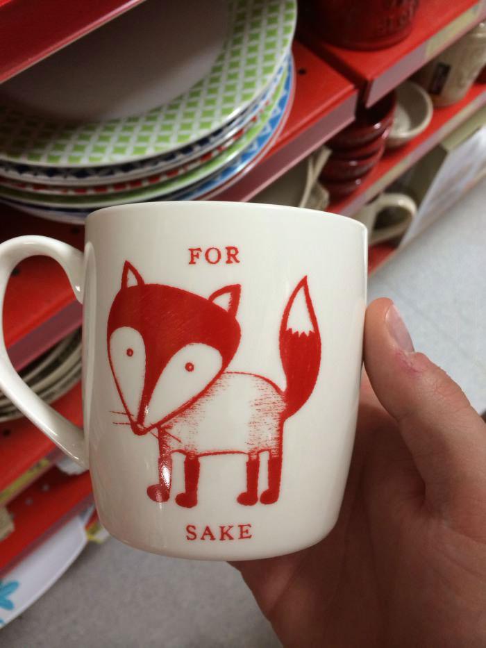 for fox sake, coffee mug