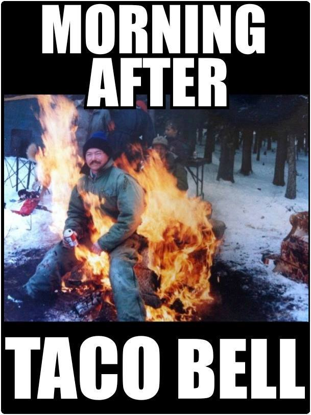 morning after taco bell, meme