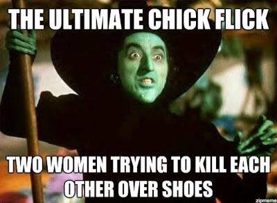the ultimate chick flick, two women trying to kill each other over shoes, the wizard of oz
