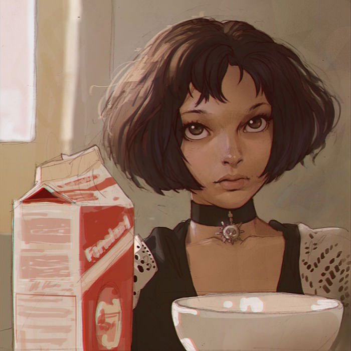 fan art of mathilda (natalie portman) from the movie leon aka the professional