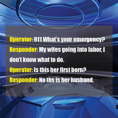 dad joke during a 911 call