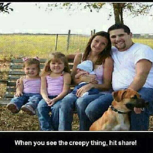 when you see the creepy thing hit share