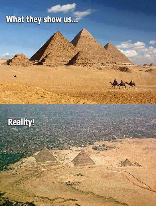 what they show us and what is really there, the great pyramids of giza