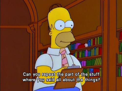 can you repeat the part of the stuff where you said all the things?, homer simpson