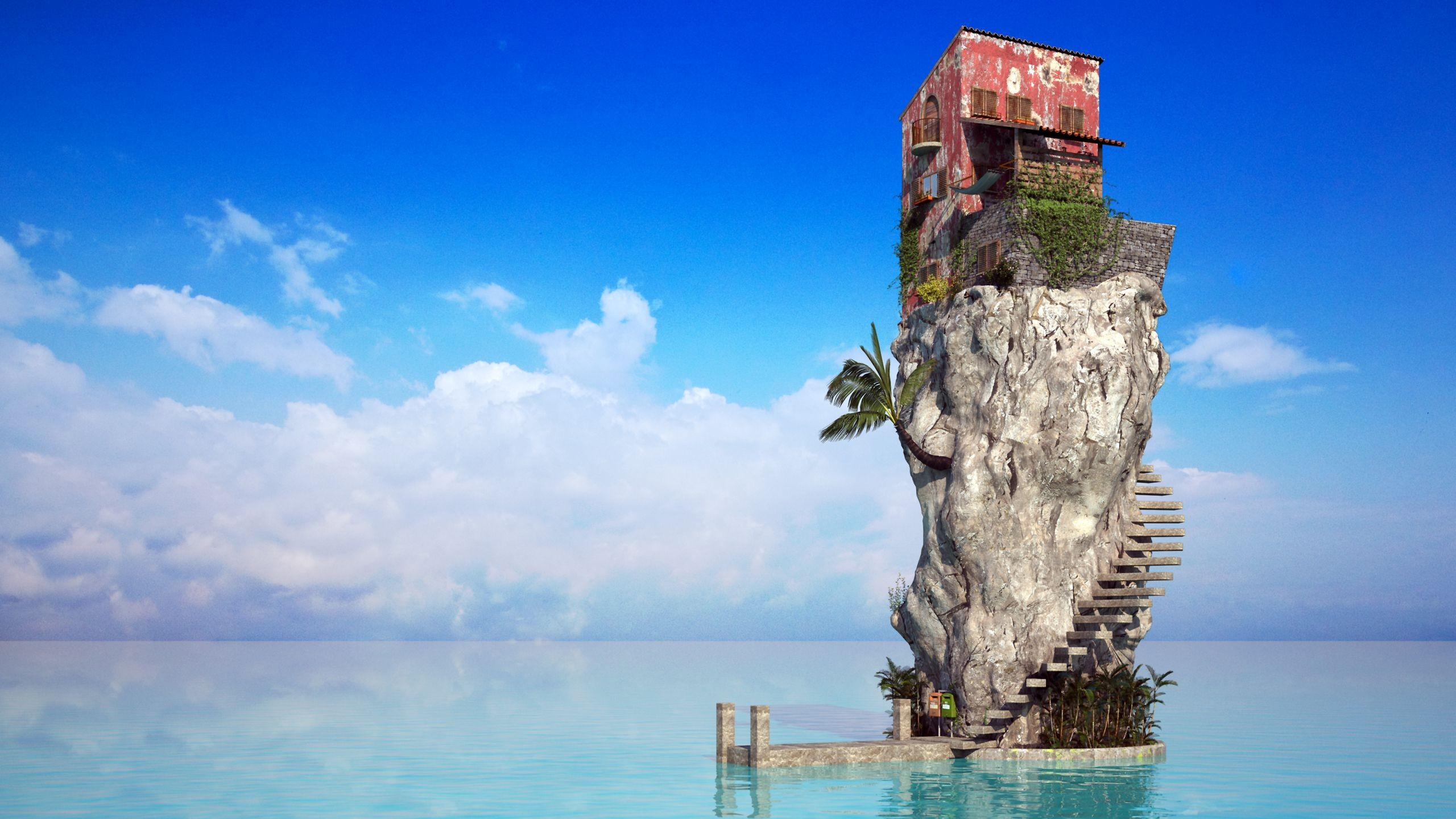 cool house built on rock in the caribbean
