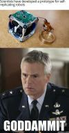 scientists have developed a prototype for self replicating robots, colonel o'neill, stargate, meme