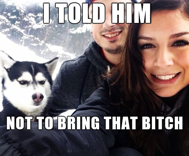 i told him not to bring that bitch, meme