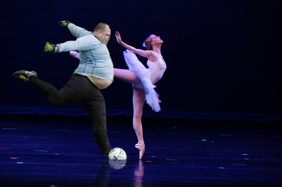 fat soccer player ballet