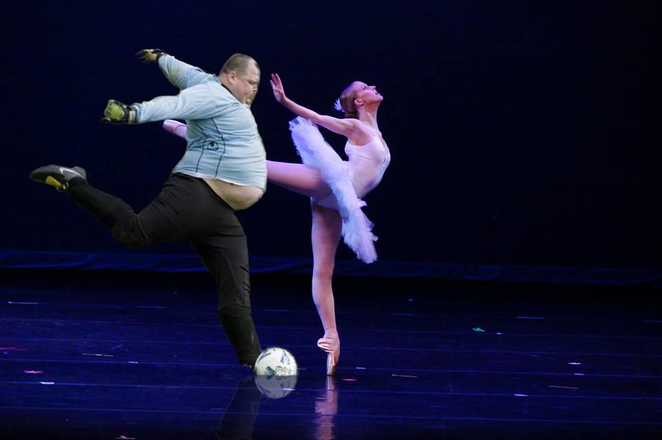 fat soccer player ballet