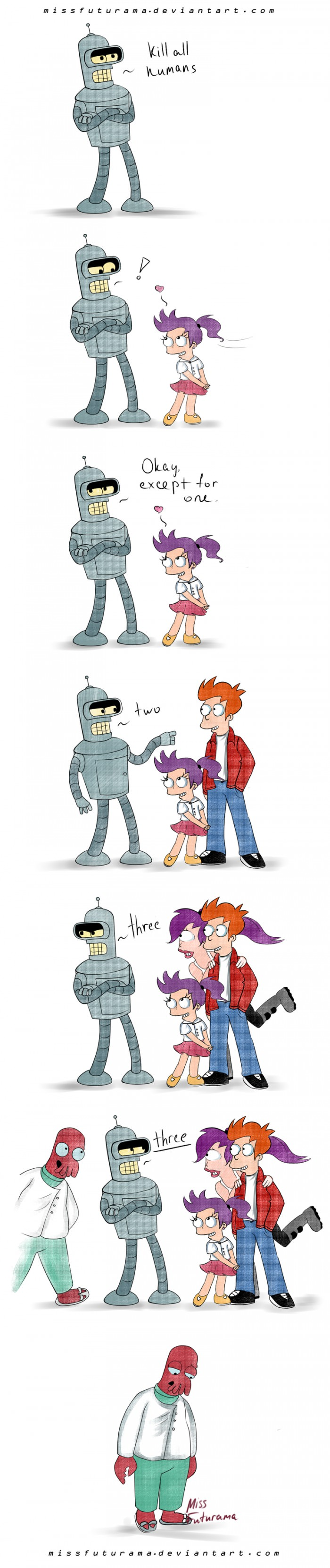 futurama, bender wants to kill all humans, except