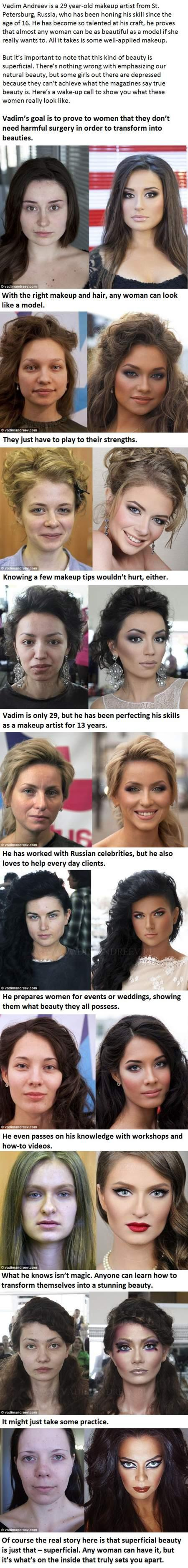 here is a dose of reality, check out these before and after photos and then ask yourself if your standard of beauty is really realistic or not