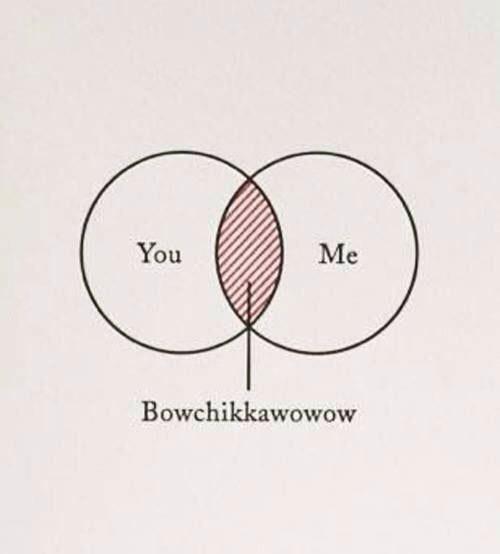 venn diagrams of you and me, bowchikkawowow
