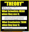 the word theory, i do not think it means what you think it means, scientists versus creationists