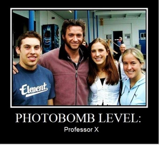 photobomb level professor x, motivation, x-men, wolverine
