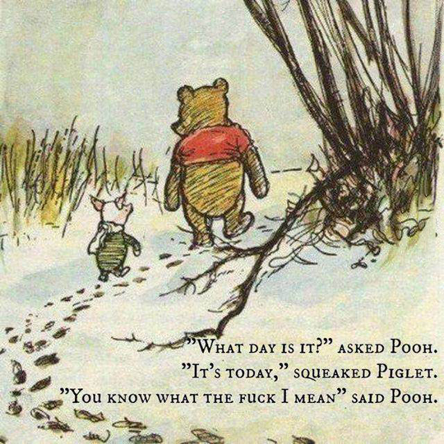 you know what the fuck i mean, said pooh