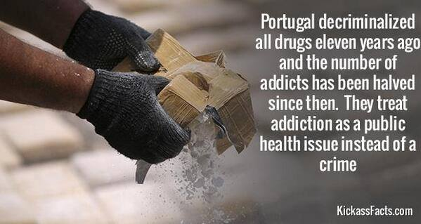 portugal decriminalized all drugs eleven years ago and the number of addicts has been halved since then