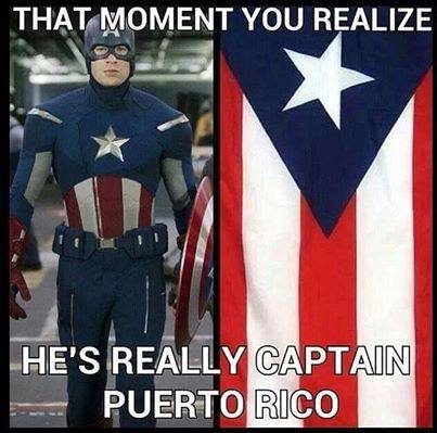 that moment you realize he's really captain puerto rico
