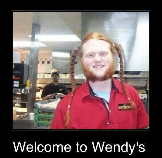 welcome to wendy's, motivation, ginger