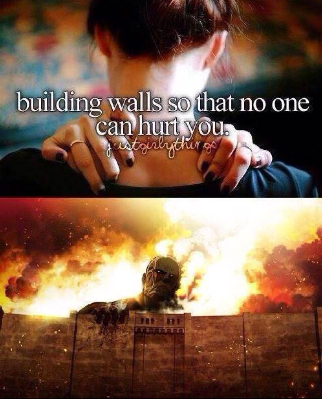 building walls so that no one can hurt you, justgirlythings