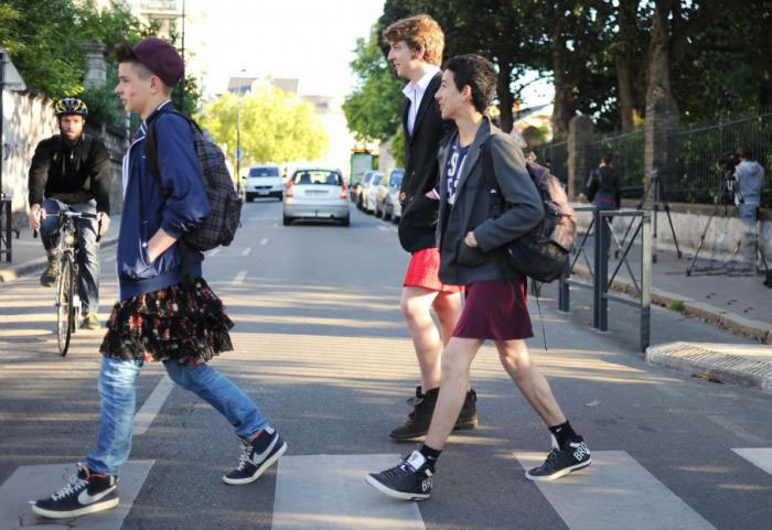 skirt day in french highschool