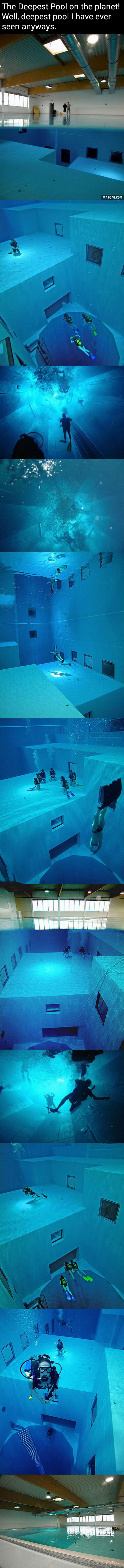 this is the deepest pool on the planet, scuba diving
