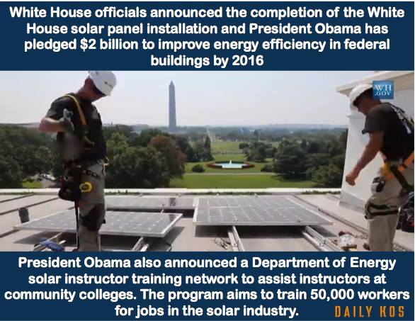 white house officials announced the completion of the white house solar panel installation