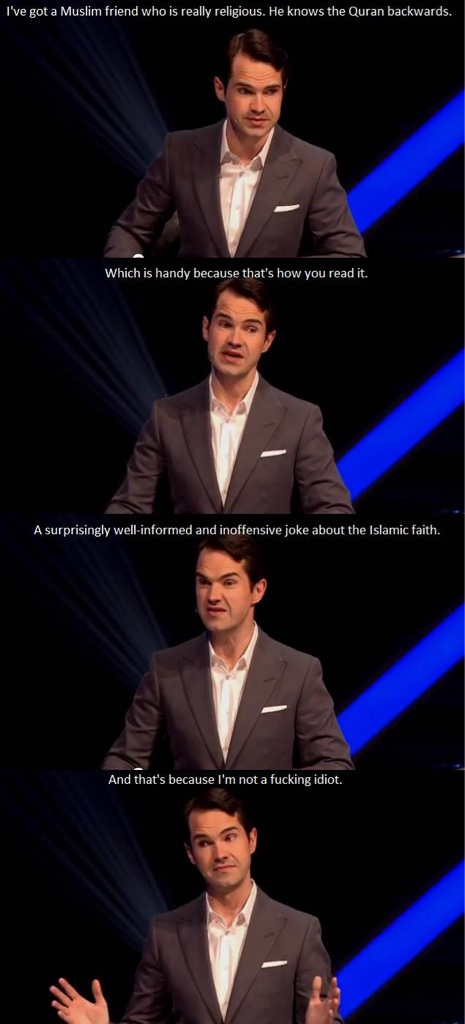 jimmy carr surprisingly inoffensive and educated joke, lol, life, religion, muslims