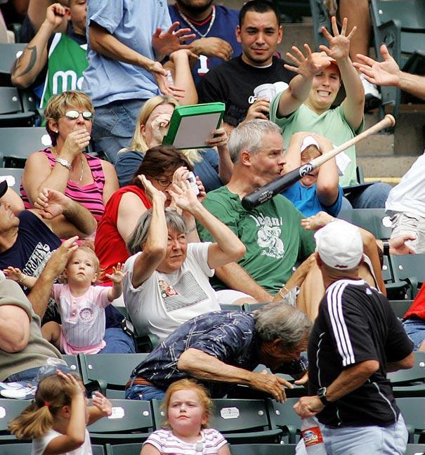 the original meme generator, timing, baseball bat hits guy in jaw, ouch
