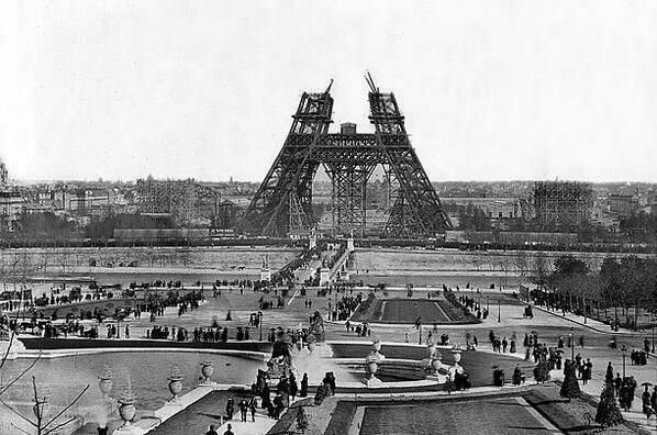 1880s - construction of eiffel tower