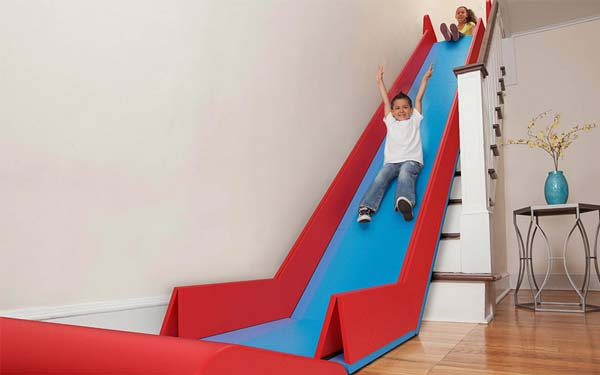 i don't care if this is for children. when you see it in action, you will want it for sure, slide ride toy for stairs