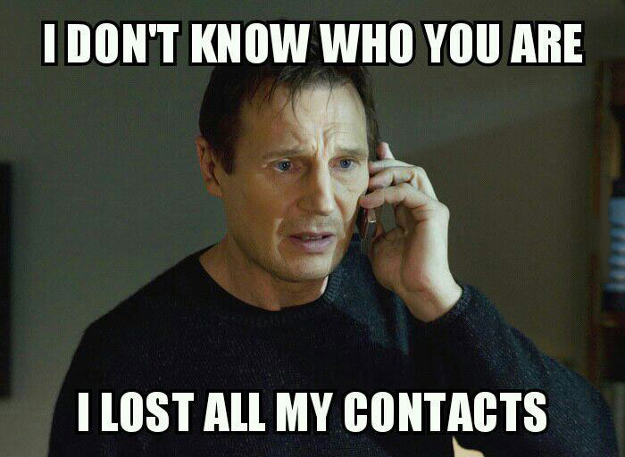 i don't know who you are, i lost all my contacts