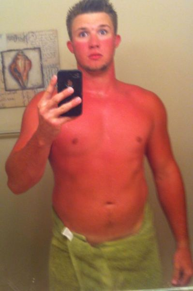 some people just don't tan well, selfie